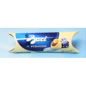 Tubo Baci in cioccolato bianco 37.5 gr