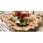 Vassoio smerlato ceramica di Deruta